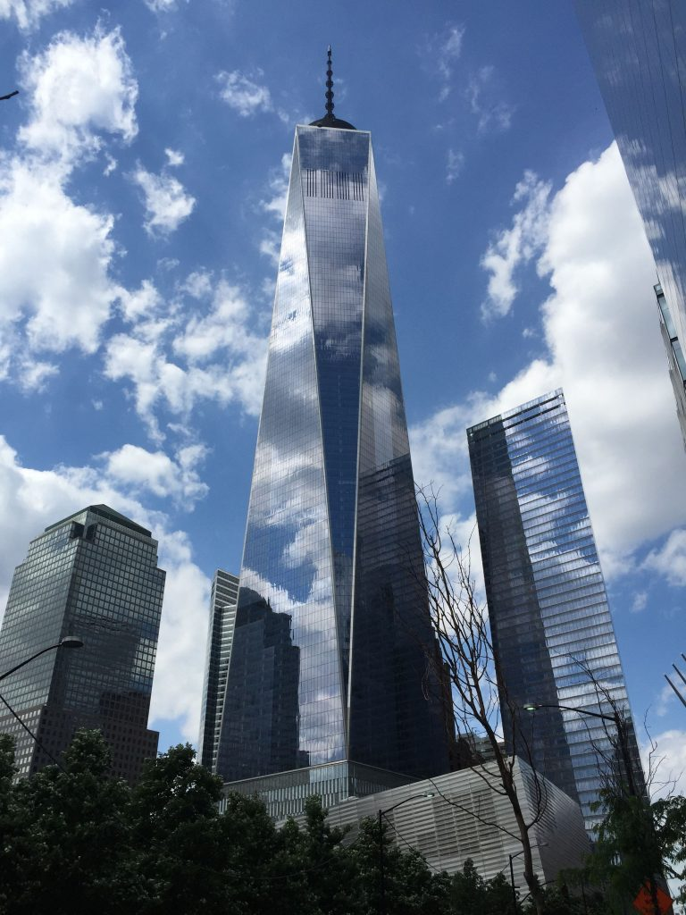 The One World Trade Center is located above the 9/11 Museum