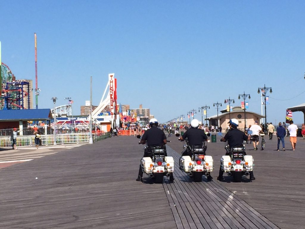 The Boardwalk at Coney Island Beach