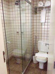 Our hotel bathroom in Brasilia