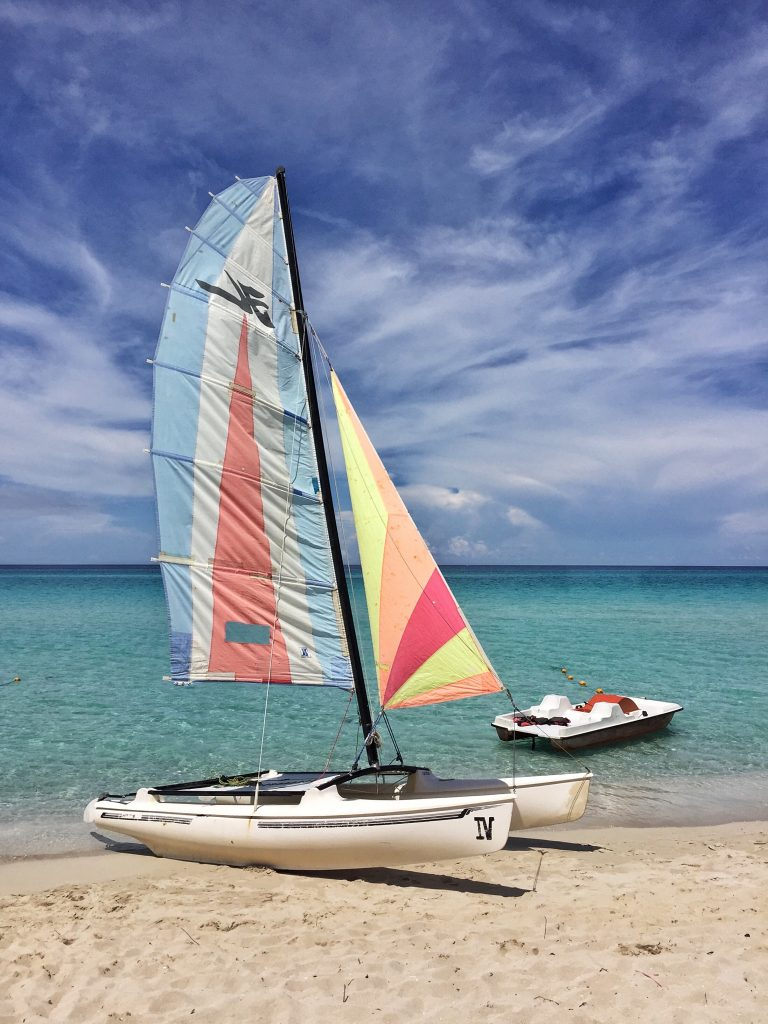 Ferry services are expected to commence shortly from Florida. The boats aren't as likely to be as colourful as this yacht though! (Varadero Beach)