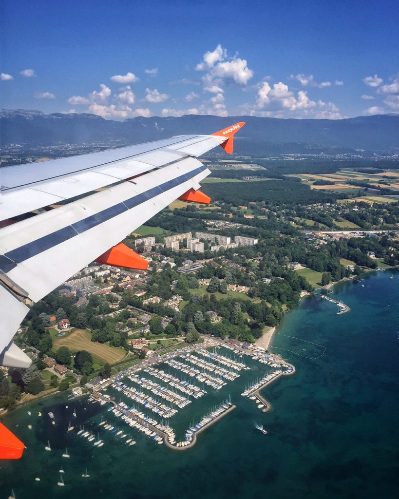 Easy Jet Geneva Flight Abstract Heaven Switzerland